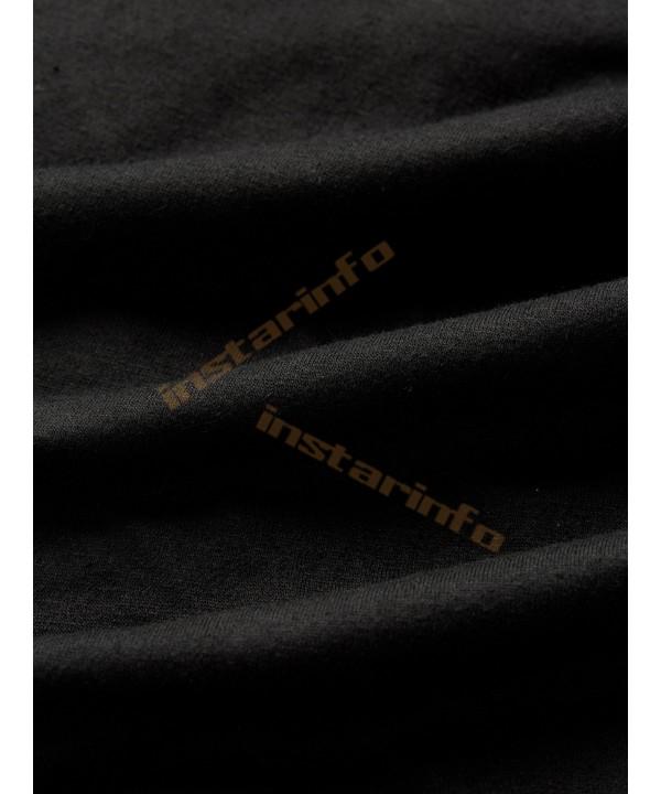 Black Cross Front Long Sleeve Mesh T-Shirt