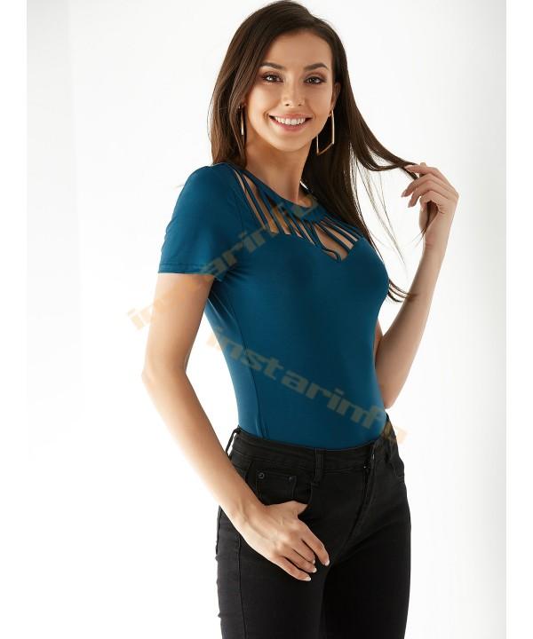 Navy Round Neck Short Sleeve T-Shirt