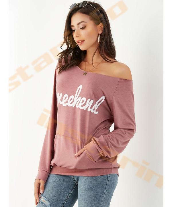 Pink lettering shoulder pocket Sweatshirt