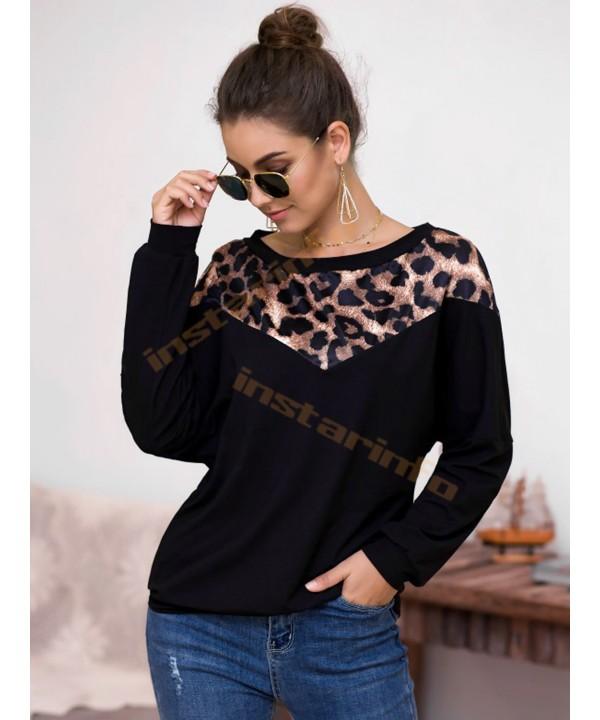 Black table shoulder long sleeve sweater