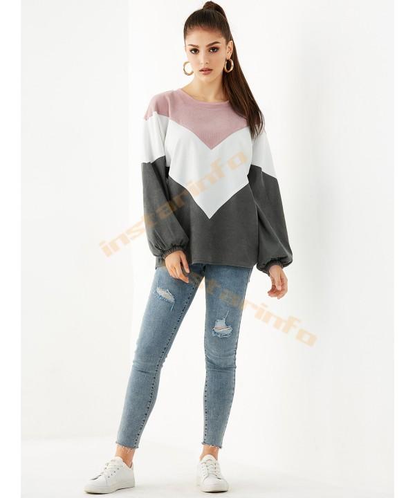 Pink round corduroy sweater