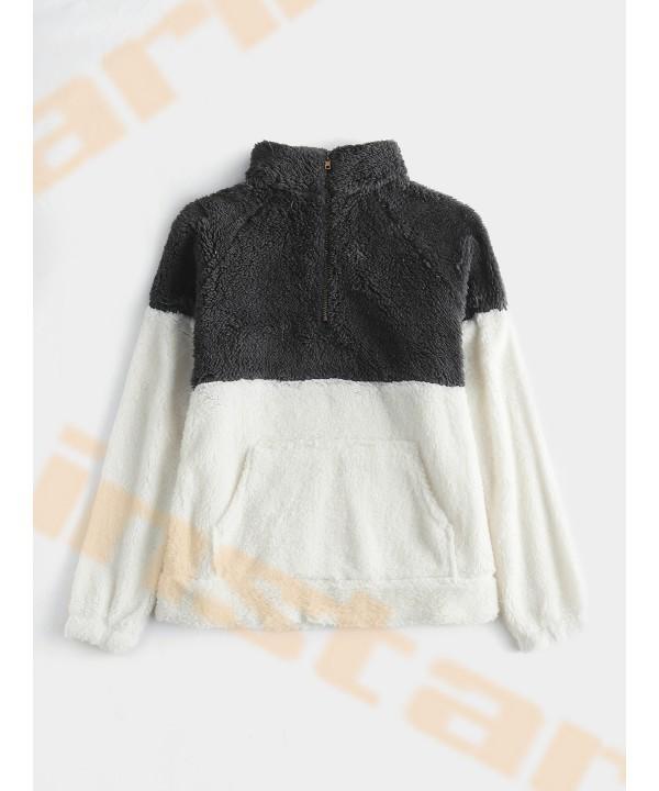 Gray zipper front long sleeve sweatshirt