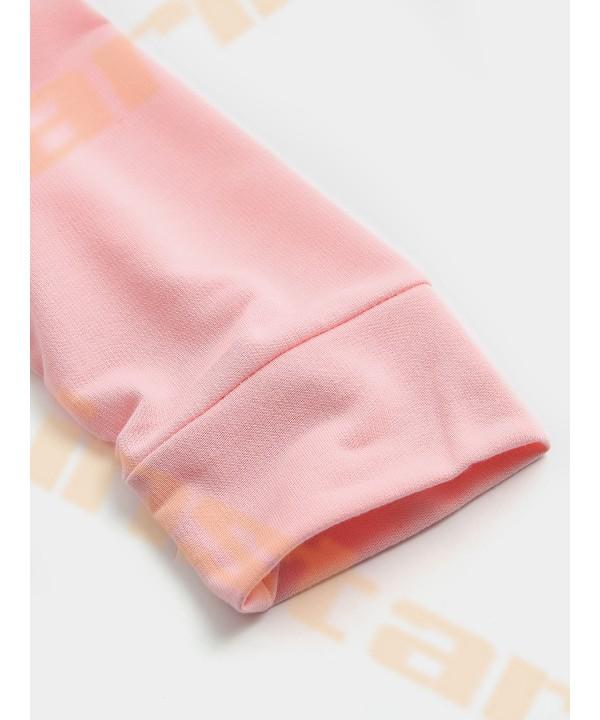 Color block letter drawstring design hoodie