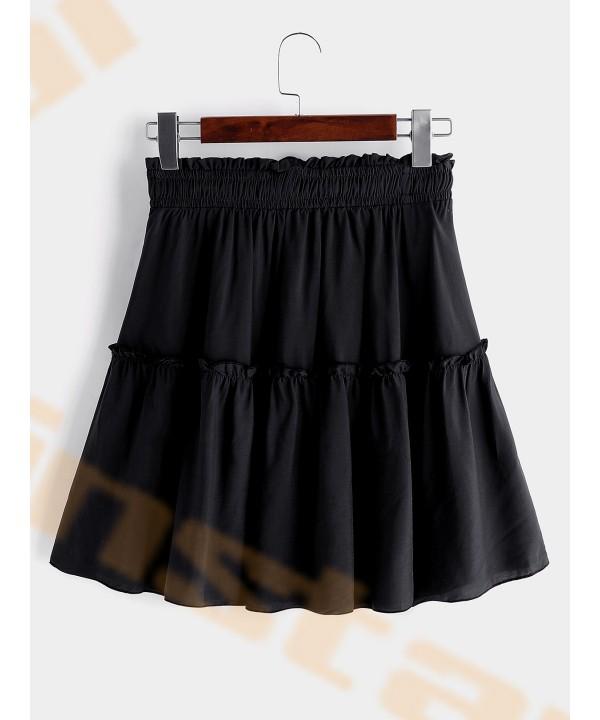Black high-waisted polka dot pleated garments