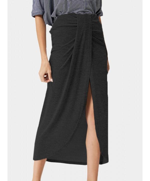 Black High Waist Tulip Skirt