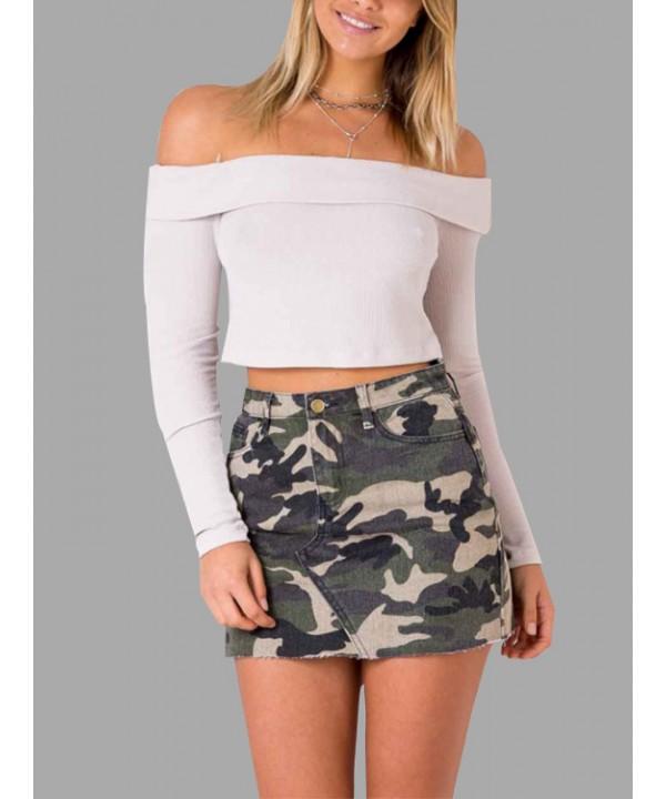 Military camouflage mini Skirts