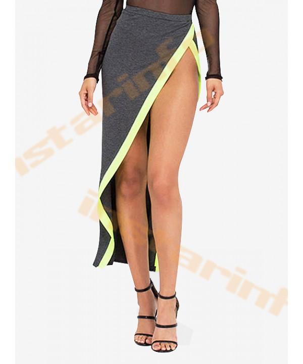 High split asymmetric gray wrap dress