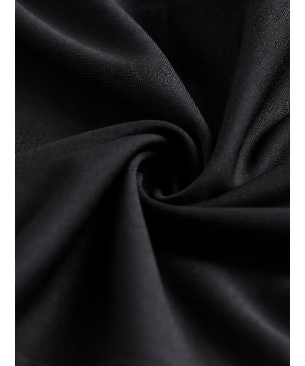 Black V-neck short sleeve wrap dress